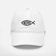 ICHTHUS FISH Baseball Baseball Cap