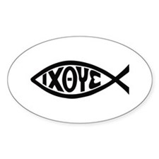 ICHTHUS FISH Decal