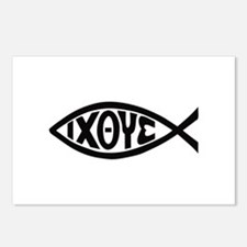 ICHTHUS FISH Postcards (Package of 8)