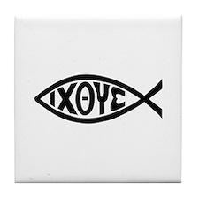 ICHTHUS FISH Tile Coaster