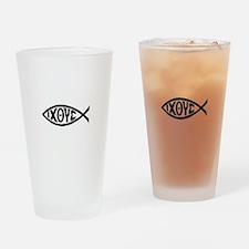 ICHTHUS FISH Drinking Glass