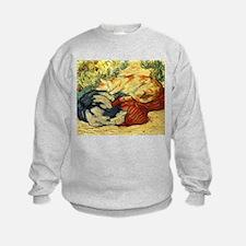 Impressionist Painting of cats Sweatshirt