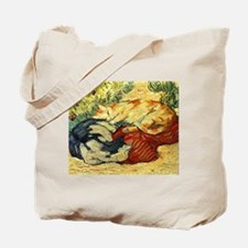 Impressionist Painting of cats Tote Bag