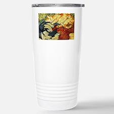 Impressionist Painting of cats Travel Mug
