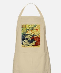 Impressionist Painting of cats Apron