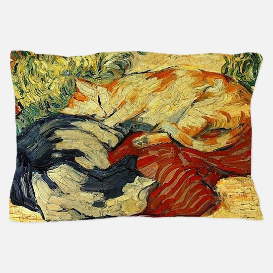 Impressionist Painting of cats Pillow Case