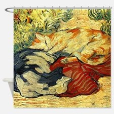 Impressionist Painting of cats Shower Curtain