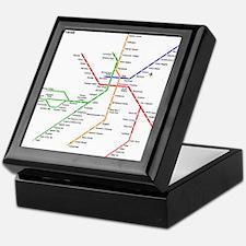 Boston Rapid Transit Map Subway Metro Keepsake Box