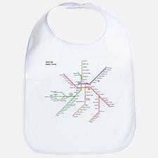 Boston Rapid Transit Map Subway Metro Bib