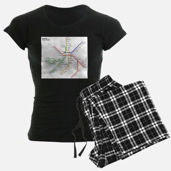Boston Rapid Transit Map Sub Pajamas