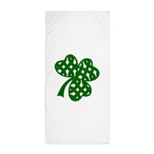 CELTIC CLOVER Beach Towel