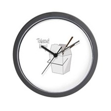 Takeout King! Wall Clock