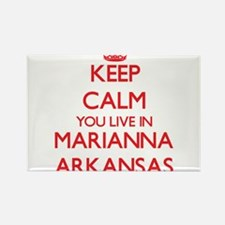 Keep calm you live in Marianna Arkansas Magnets