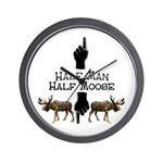 Moose hunter Gifts T-shirts Wall Clock