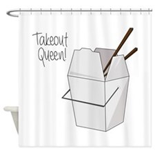 Takeout Queen Shower Curtain
