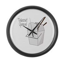 Takeout Queen Large Wall Clock
