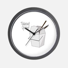 Takeout Queen Wall Clock