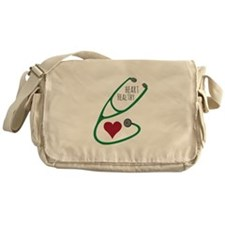 Stethoscope_HeartHealthy Messenger Bag