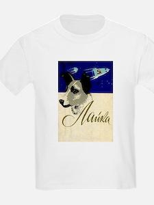 Laika Dog Cosmonaut USSR Space Vintage Ret T-Shirt
