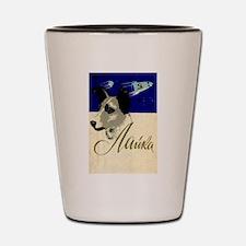 Laika Dog Cosmonaut USSR Space Vintage Shot Glass