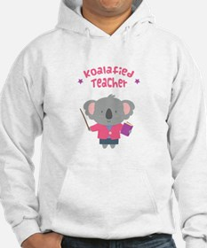 Cute Pun Koala Bear Koalafied Teacher Hoodie