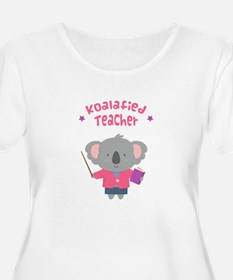 Cute Pun Koala Bear Koalafied Teacher Plus Size T-