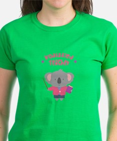 Cute Pun Koala Bear Koalafied Teacher T-Shirt