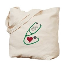 Stethoscope_Doctor Tote Bag