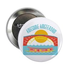 """Bridge_Awesome_Amsterdam 2.25"""" Button (100 pack)"""