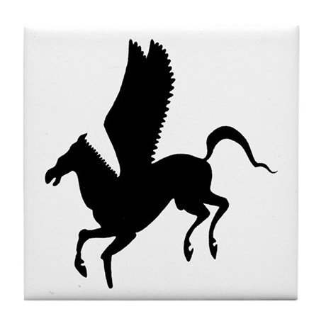Pegasus Silhouette Tile Coaster