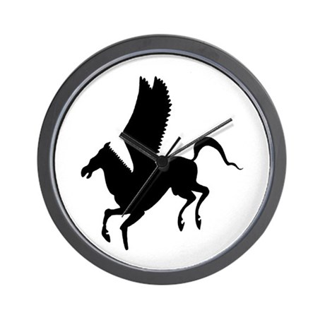 Pegasus Silhouette Wall Clock