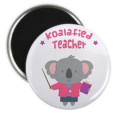 Cute Pun Koala Bear Koalafied Teacher Magnets