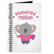 Cute Pun Koala Bear Koalafied Teacher Journal