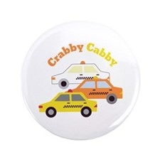 """Crabby Cabby 3.5"""" Button"""