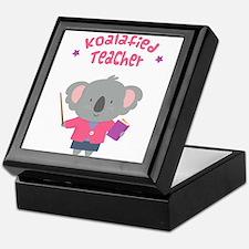 Cute Pun Koala Bear Koalafied Teacher Keepsake Box