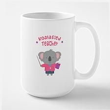 Cute Pun Koala Bear Koalafied Teacher Mugs