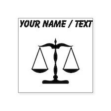 Custom Scale Of Justice Sticker
