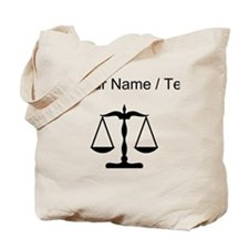 Custom Scale Of Justice Tote Bag