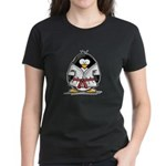 Martial Arts red belt penguin Women's Dark T-Shirt
