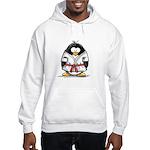 Martial Arts red belt penguin Hooded Sweatshirt