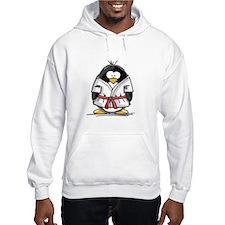 Martial Arts red belt penguin Hoodie