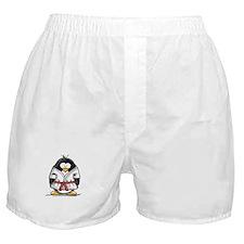 Martial Arts red belt penguin Boxer Shorts