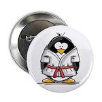 Martial Arts red belt penguin Button