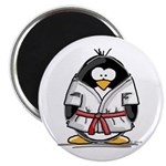 Martial Arts red belt penguin Magnet
