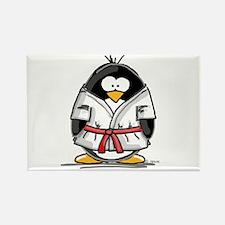 Martial Arts red belt penguin Rectangle Magnet