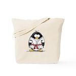 Martial Arts red belt penguin Tote Bag