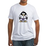Martial Arts purple belt peng Fitted T-Shirt