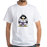 Martial Arts purple belt peng White T-Shirt