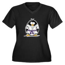 Martial Arts purple belt peng Women's Plus Size V-