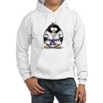 Martial Arts purple belt peng Hooded Sweatshirt